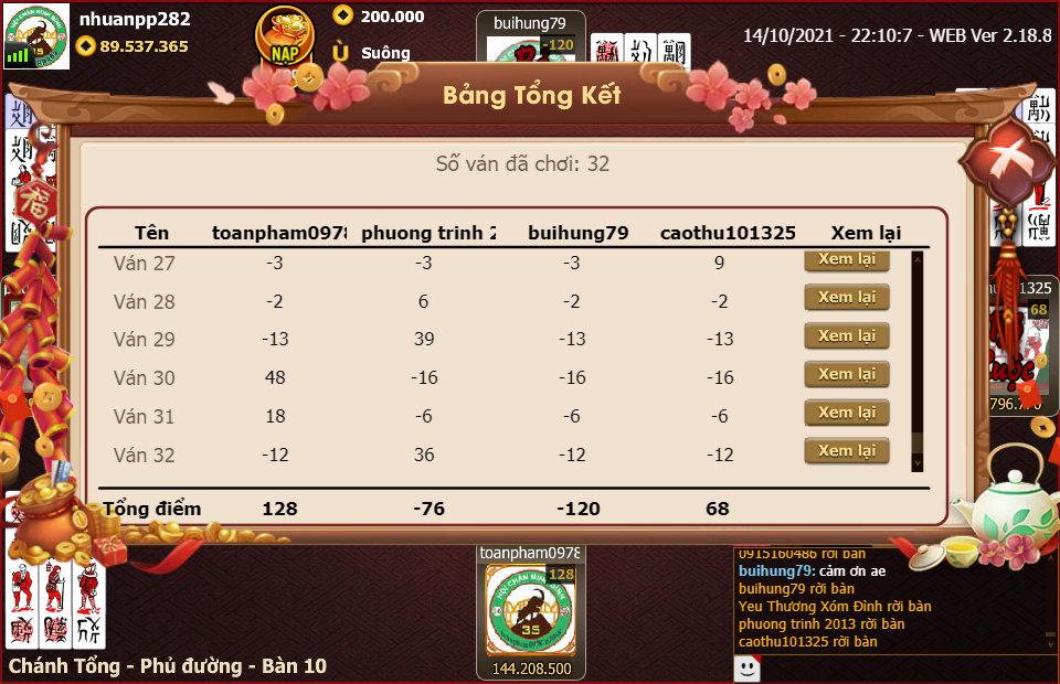 kq bang 2 ban 10.