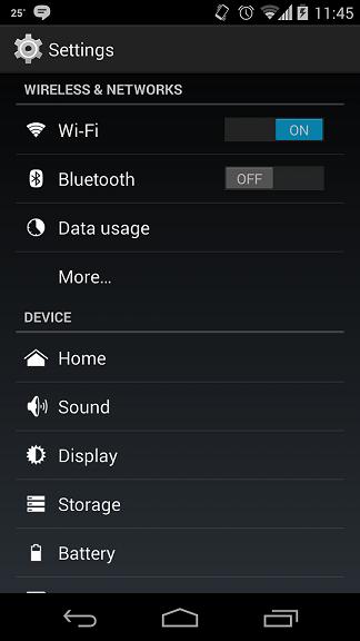 settings.
